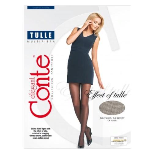 Колготки Conte Elegant Tulle, 30 den, размер 2, nero (черный)