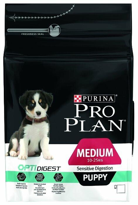 Корм для щенков Purina Pro Plan Optidigest ягненок с рисом (для средних пород)