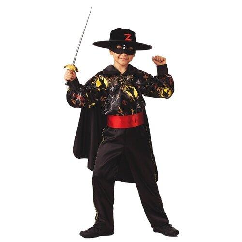 Купить Костюм Батик Зорро Сказочный (5202), черный, размер 104, Карнавальные костюмы