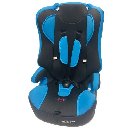 Автокресло группа 2/3 (15-36 кг) Мишутка LB 513 (без вкладыша), blue/black