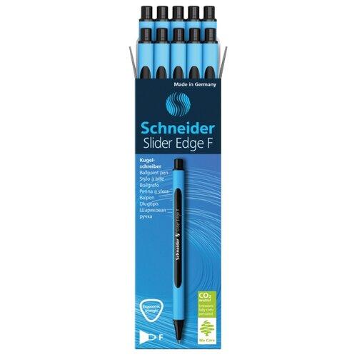 Купить Schneider Набор шариковых ручек Slider Edge F, 0.8 мм, 10 шт., черный цвет чернил, Ручки