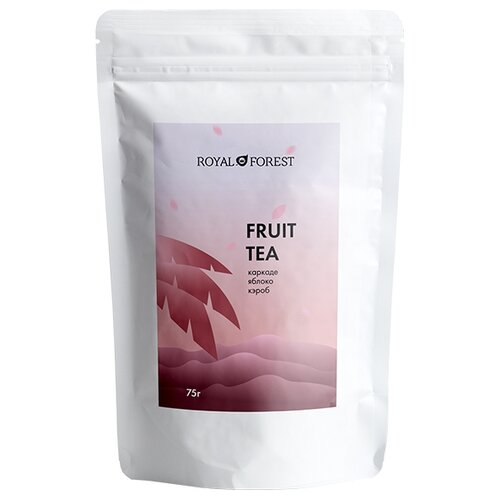Чай фруктовый Royal Forest Fruit tea каркаде, яблоко, кэроб, 75 г