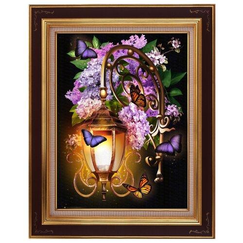 Купить Алмазная живопись Набор алмазной вышивки Фонарь в сирени (АЖ-1722) 30x40 см, Алмазная вышивка