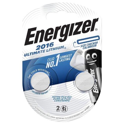 Батарейка Energizer Ultimate Lithium CR2016, 2 шт. батарейка energizer ultimate lithium cr2016 2 шт