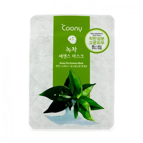 Coony тканевая маска для лица с зеленым чаем Green Tea Essence Mask, 23 г coony тканевая маска для лица с зеленым чаем green tea essence mask 23 г