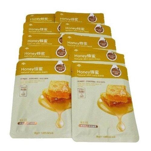 10 ШТ. Медовая увлажняющая антиоксидантная тканевая маска с гиалуроновой кислотой и мёдом HONEY NATURAL SKIN CARE MASK 30 г недорого