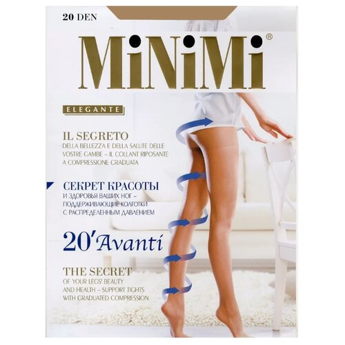 Колготки MiNiMi Avanti 20 den nero 6-XXL (MiNiMi)Колготки и чулки<br>