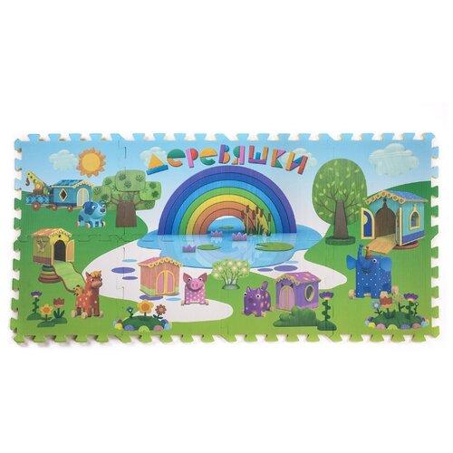 Купить Коврик-пазл Деревяшки Волшебный город, 18WPZM01, Игровые коврики
