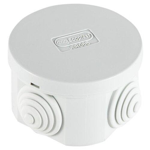 Распределительная коробка Ecoplast JBR065 (44004) наружный монтаж 65x65 мм RAL 7035