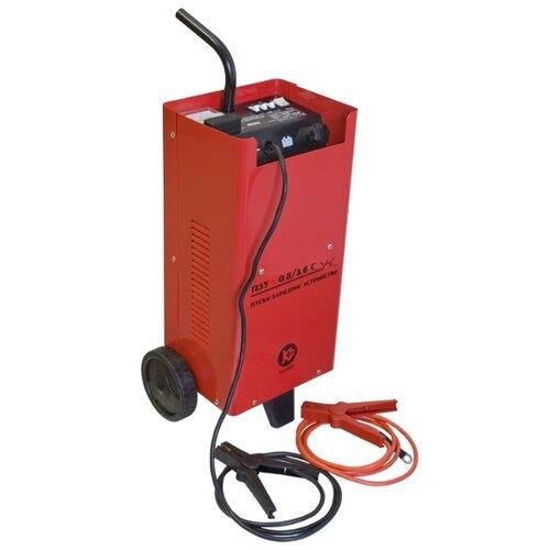Пуско-зарядное устройство КАЛИБР ПЗУ-0,8/3,6С красный зарядное