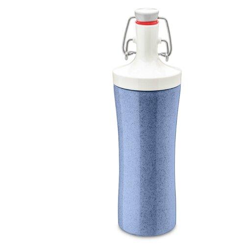 Фото - Бутылка для воды Koziol PLOPP TO GO Organic 425 мл синяя бутылка для воды koziol plopp to go organic 0 42 пластик синий