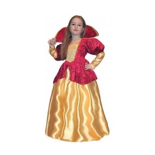 Фото - Платье SNOWMEN Королева (Е51278), желтый/красный, размер 7-10 лет snowmen ель 25 е50050