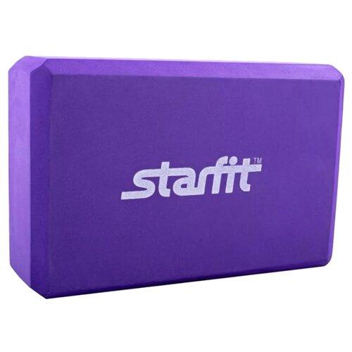 Блок для йоги Starfit FA-101 фиолетовый ролик для йоги и пилатеса starfit fa 506 цвет зеленый 15 х 15 х 90 см