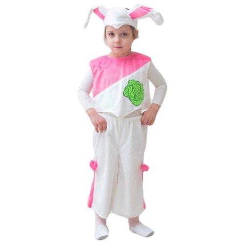 Купить Костюм Бока Зайчиха, белый/розовый, размер 122-134, Карнавальные костюмы