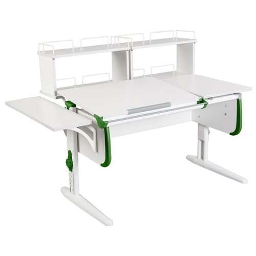 Стол ДЭМИ СУТ-25-02Д2 145x82 см белый/зеленый/белый стол дэми сут 25 02д2 145x82 см белый зеленый бежевый