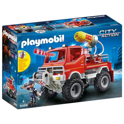 Набор с элементами конструктора Playmobil City Action 9466 Пожарная служба: пожарная машина набор с элементами конструктора playmobil city life 9078 шопинг торговый центр