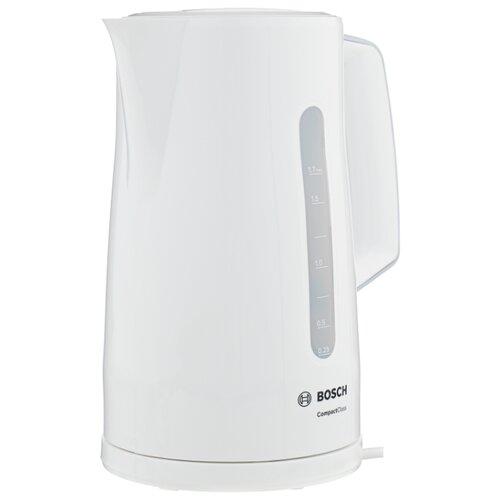 Чайник Bosch TWK 3A011, белый чайник bosch twk 3a011 2400вт 1 7л пластик белый