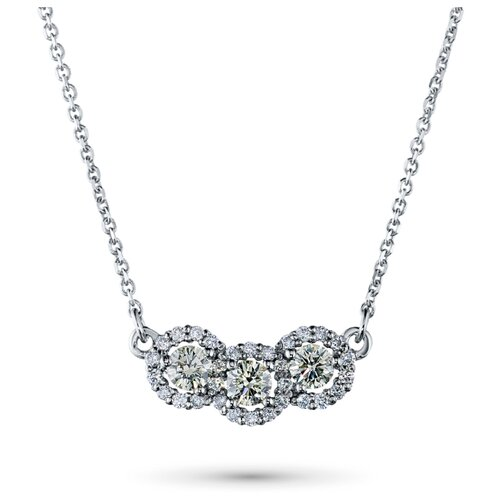 ЭПЛ Якутские Бриллианты Колье из белого золота с бриллиантами э0901кл09190270-40.5-0.447, 40.5 см
