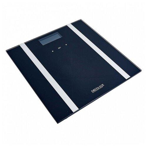 Весы SMART 180 кг 28×28 см электронные напольные DELTA LUX DE-4600 черные