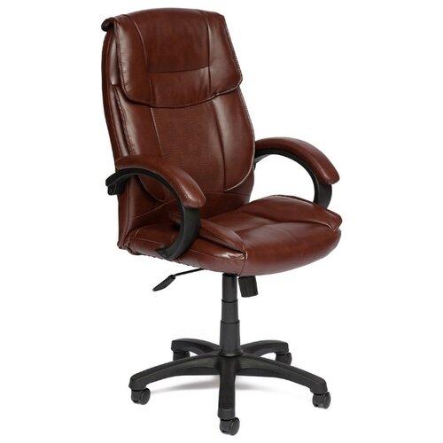 Компьютерное кресло TetChair Oreon (обивка кож/зам) для руководителя, обивка: искусственная кожа, цвет: коричневый 2 TONE oreon mebelvia