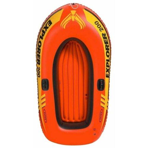 Надувная лодка Intex Explorer-200 Set (58330) оранжевый