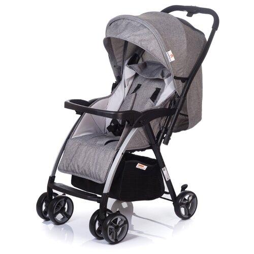 Прогулочная коляска Babyhit Floret GREY LINEN, цвет шасси: черный коляска прогулочная babyhit floret джинс