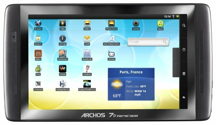 Планшет Archos 70 internet tablet 250Gb