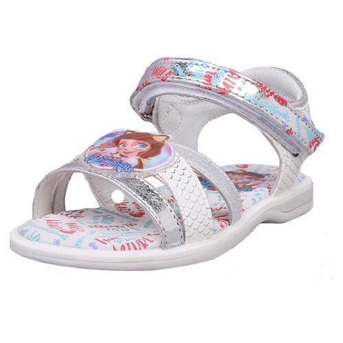 Сандалии kari Enchantimals размер 30, серебристыйБосоножки, сандалии<br>