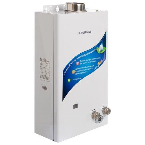 Проточный газовый водонагреватель Superflame SF0420T bal (турбо)