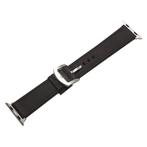 CARCAM Ремешок для Apple Watch 42mm New Кожзам коричневый