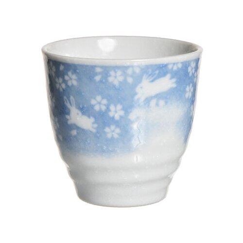 AI LIFE Чашка Moeusagi 210 мл белый/синий