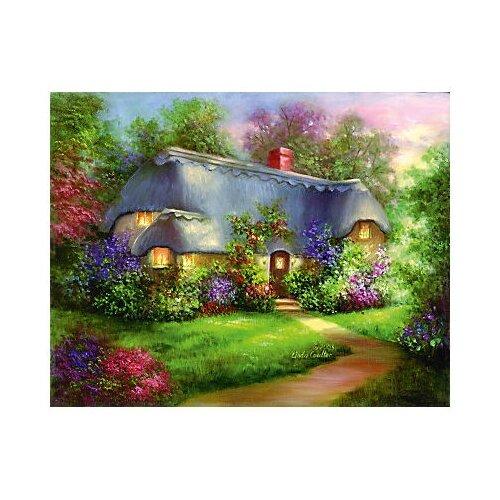 Royal & Langnickel Картина по номерам на холсте Гризайль Очаровательный домик 28х35 см (POM-SET 16), Картины по номерам и контурам  - купить со скидкой