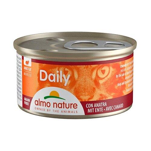Фото - Корм для кошек Almo Nature Daily Menu с уткой 85 г консервы для кошек almo nature нежный мусс с уткой 85 г