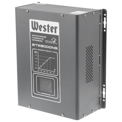 Фото - Стабилизатор напряжения однофазный Wester STW-3000NS (2.4 кВт) stw
