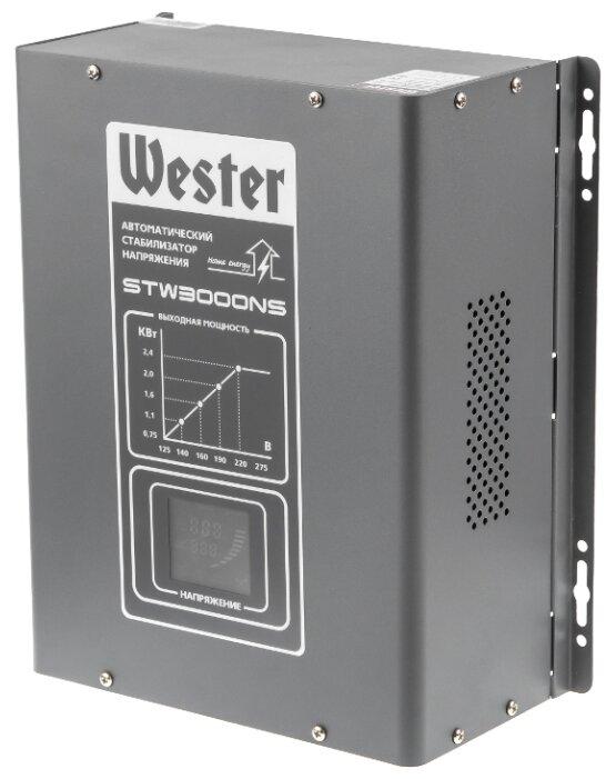 Стабилизатор напряжения однофазный Wester STW-3000NS (2.4 кВт)
