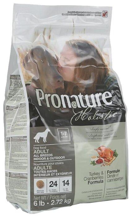Корм для собак ProNature Holistic индейка с клюквой 2.72 кг