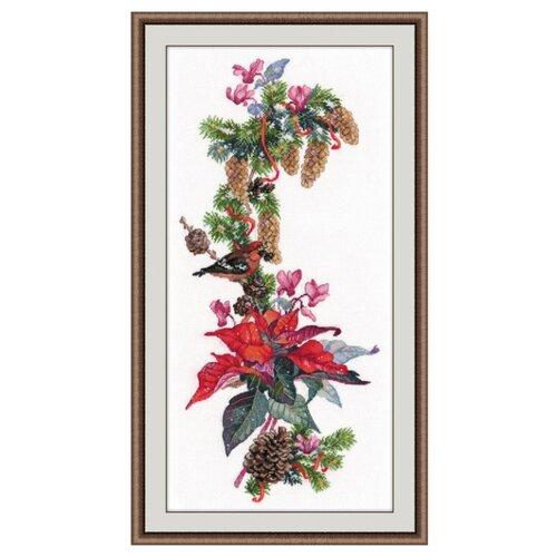 Купить Овен Цветной Вышивка крестом Рождественская звезда 20 х 44 см (1016), Наборы для вышивания