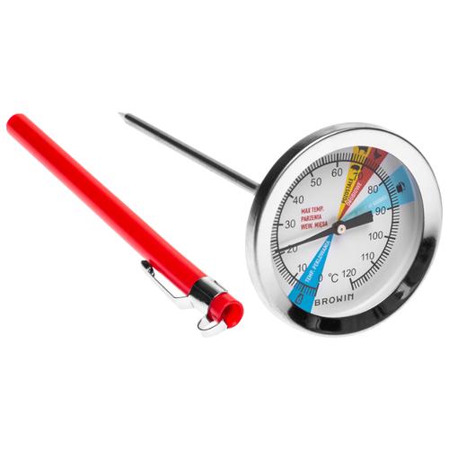 Фото - Термометр BROWIN для мяса 100601 серебристый термометр для мяса в силиконовом корпусе