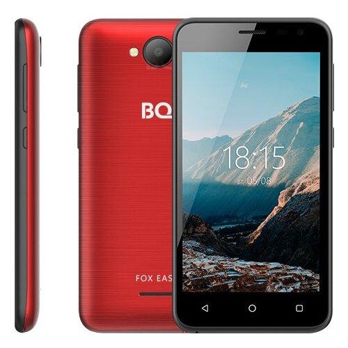 смартфон bq mobile 5004g fox 1 8gb серебристый Смартфон BQ 4501G Fox Easy красное вино