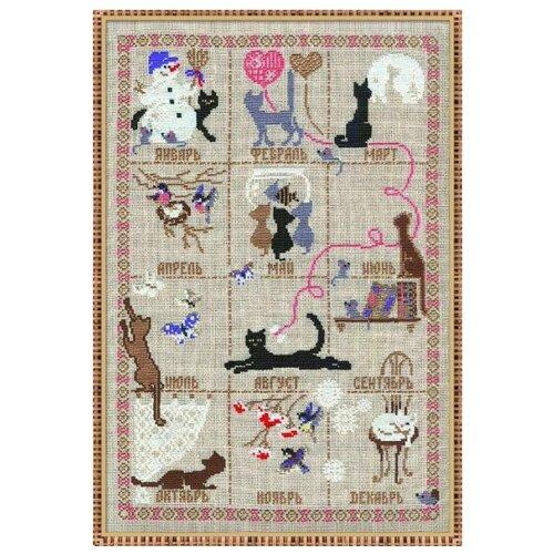 Купить Риолис Набор для вышивания крестом Календарь 35 х 45 (728), Наборы для вышивания