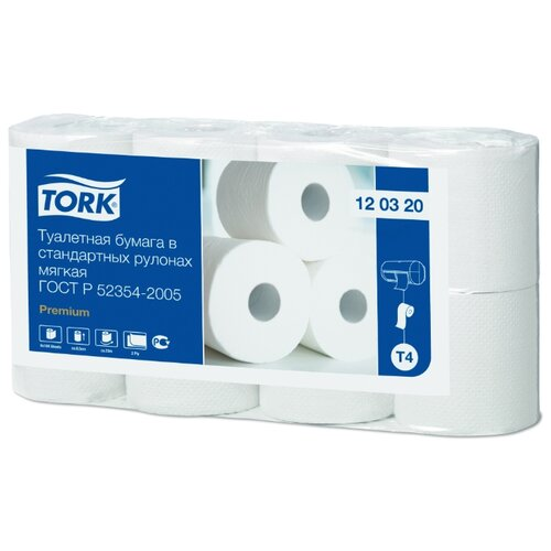 Туалетная бумага TORK Premium 120320 8 рул. туалетная бумага tork universal 120195 1 рул