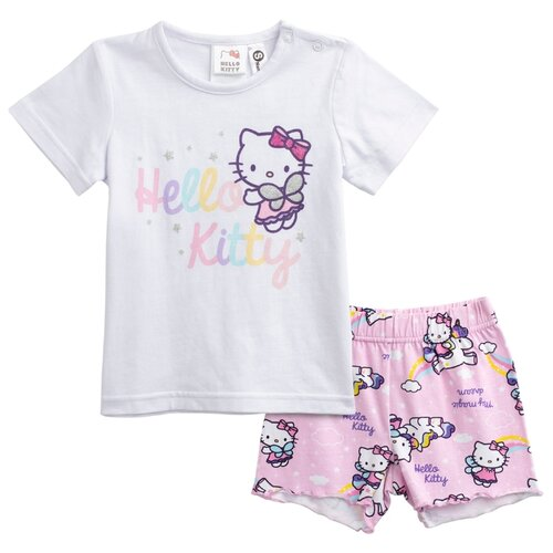 Пижама playToday размер 80, светло-розовый