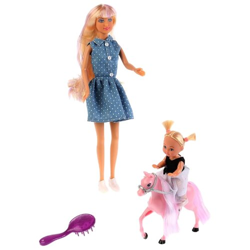 Набор Defa Lucy с дочкой на лошадке 29 см, дочка 10 см 8399 рама белоснежка lucy 2410 bb 50x40 см