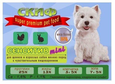 Корм для собак Скиф (2 кг) Сенситив-mini