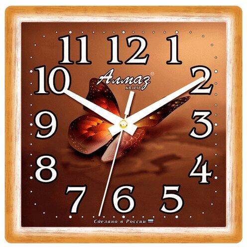 Фото - Часы настенные кварцевые Алмаз M04/M13/M21/M22/M23 бежевый / коричневый часы настенные кварцевые алмаз b97 коричневый бежевый