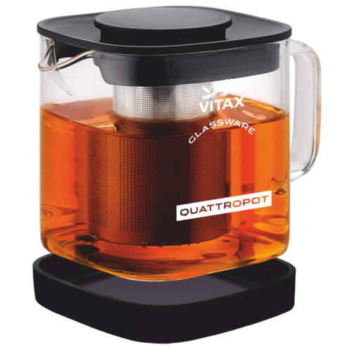 Vitax Заварочный чайник Thirlwall VX-3306 0,6 л, прозрачный/черный