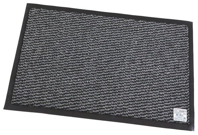 Придверный коврик RemiLing Leyla Rus, размер: 0.6х0.4 м, серый/черный