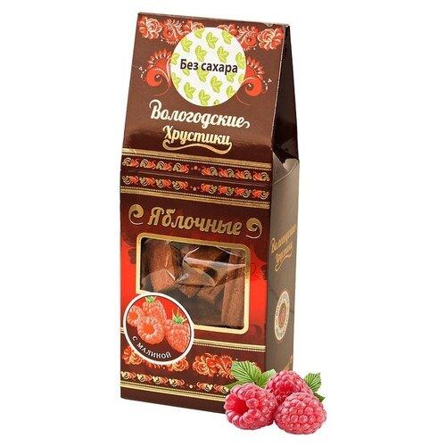 Пастила Вологодская мануфактура Хрустики яблочные с малиной без сахара 60 г