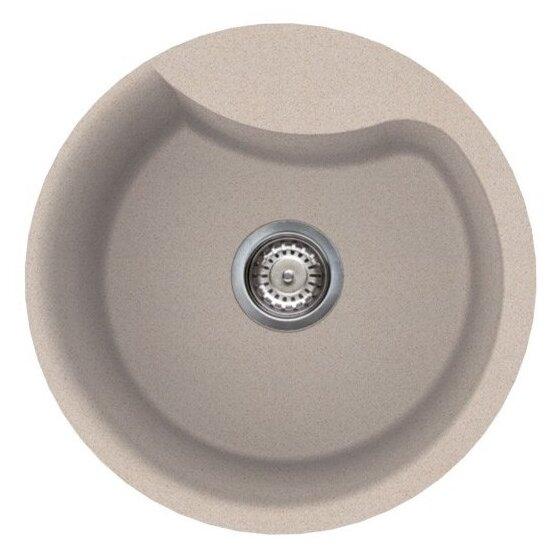 Врезная кухонная мойка smeg LSE48 48.5х48.5см искусственный гранит