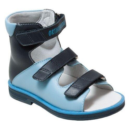 Сандалии Orthoboom размер 22, сине-голубойОбувь для малышей<br>